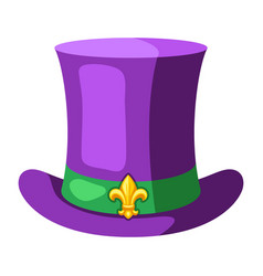 Mardi gras carnival top hat vector