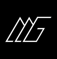 mg logo monogram vector image