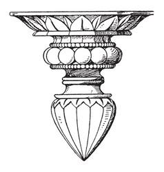 Modern pendant knob ornamental terminations vector