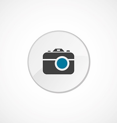 Photo camera icon 2 colored vector