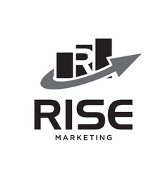 r diagram up business logo designs vector image
