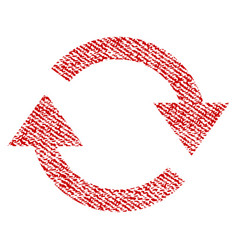Refresh fabric textured icon vector