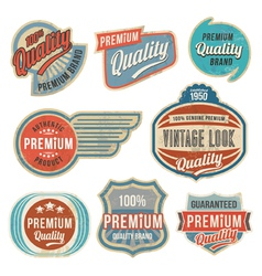 Retro vintage label banner set vector