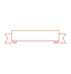 ribbon banner decoration ornament icon vector image