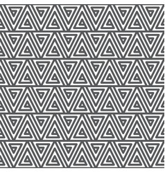 seamless abstract geometric pattern black vector image