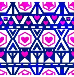 Seamless pattern with hearts EPS10 vector image