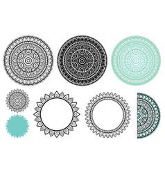 set elements from mandala mandala vector image