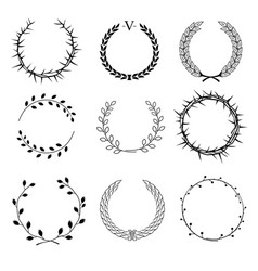 set of different wreaths vector image