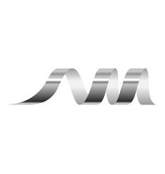Silver serpentine icon realistic style vector