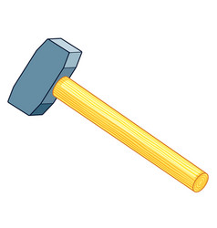 Sledge hammer icon vector