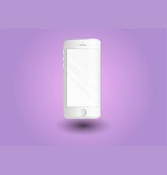 smartphonestylish white phone vector image