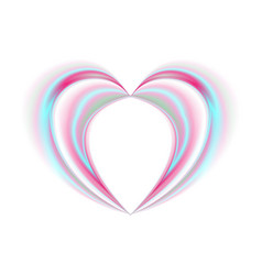 smooth holographic abstract heart on white vector image