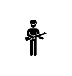 soldier gun icon can be used for web logo mobile vector image