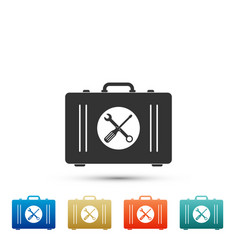 toolbox icon isolated on white background vector image