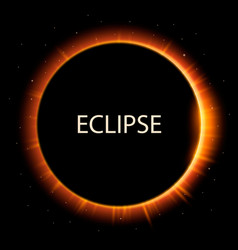 Total eclipse sun background vector