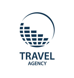 Travel earth logo vector