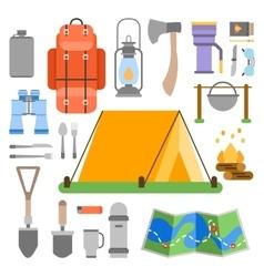 Trip design elements travel icon set vector