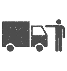 Truck Customer Icon Rubber Stamp vector