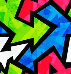 Urban bright geometric seamless pattern vector