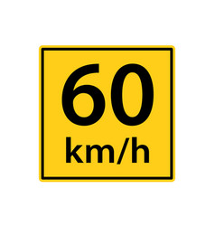 Usa traffic road signs maximum safe speed for the vector