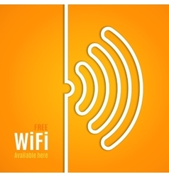 WiFi icon on orange background vector image