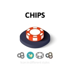 Chips icon in different style vector image