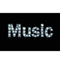 Diamond word music vector image