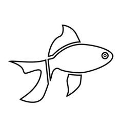 fish black color icon vector image vector image