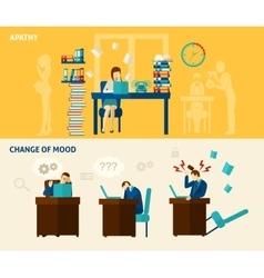 Frustration Banner Set vector image vector image