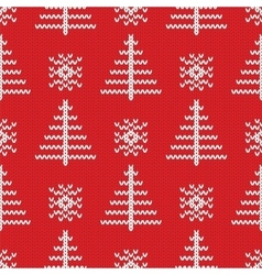 Knitted seamless pattern background vector image
