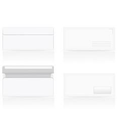 set of white blank envelopes 02 vector image