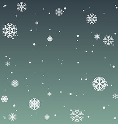 Winter background with beautiful various vector