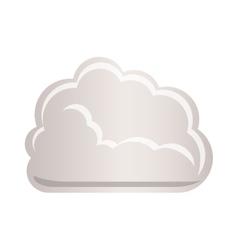 cloud tridimensional in cumulus shape vector image vector image