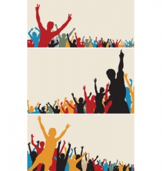 crowd silhouettes vector image