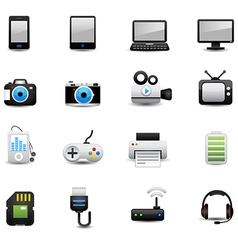 Electronic And Devices Icons vector image vector image