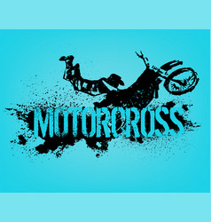 flying motorcycle image vector image