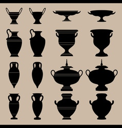 antique vase vector image vector image