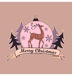 Christmas and New year logo emblem vector image