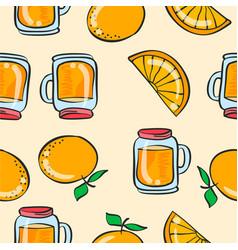 doodle orange drink theme art vector image vector image