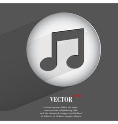 note Flat modern web button with long shadow and vector image
