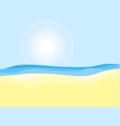 seashore sunny day beach landscape vector image