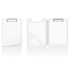 set of white blank folder vector image vector image