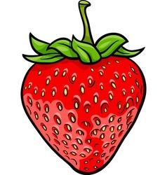strawberry fruit cartoon vector image