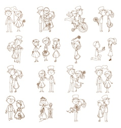 Wedding Doodles vector image