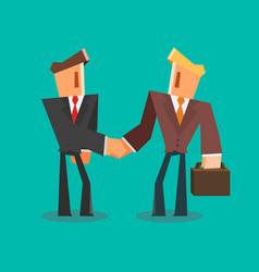 Businessmen shaking hands successful deal concept vector