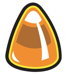Candy corn vector image vector image