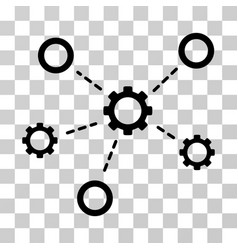 gears relations icon vector image