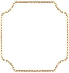 Jewelry golden chain of abstract shape vector