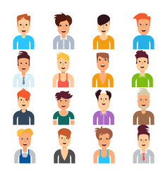 men with different hairstyles vector image