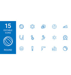 15 round icons vector